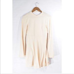 NWT ASOS Cream Mock Neck Dress